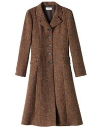 Toast - Herringbone Tweed Promenade Coat - Lyst