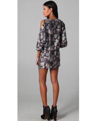 Beyond Vintage - Cutout Shoulder Long Sleeve Dress - Lyst