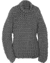 Dolce & Gabbana Chunky-knit Cotton-blend Sweater - Lyst