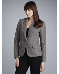John Lewis - Women Tweed Jacket Mink - Lyst