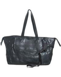 Rick Owens Leather Horizontal Shopper - Lyst