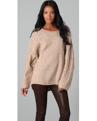 HHH by Haute Hippie - Layer Up Oversized Sweater - Lyst