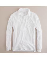 J.Crew Broken-In Long-Sleeve Pocket Polo Shirt - Lyst