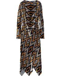 Proenza Schouler Zigzag Devoré-velvet Dress multicolor - Lyst