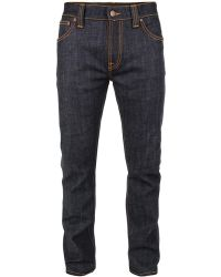 Nudie Jeans Indigo Hands Collection - Thin Finn Organic Dry Jeans - Lyst