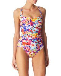 Seafolly Avant Garden Twist Bandeau Swimsuit - Lyst