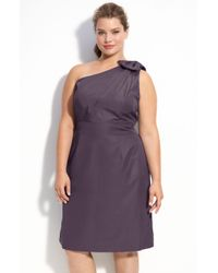 Glint One Shoulder Dress (plus) - Lyst