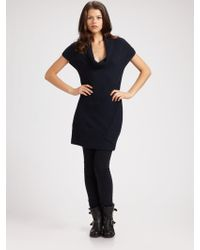 Duffy - Cashmere Enveloped Cowlneck Sweater Dress - Lyst