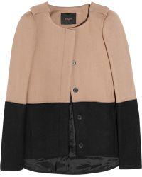 Maje Hungary Two-tone Wool-blend Jacket black - Lyst