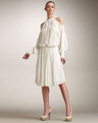 Fendi Cutout Shoulder Dress - Lyst