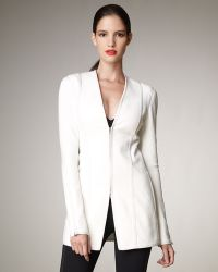 Donna Karan New York Zip-front Long Stretch Jacket - Lyst