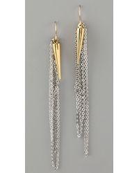 Gemma Redux - Plumb Bob and Chain Earrings - Lyst