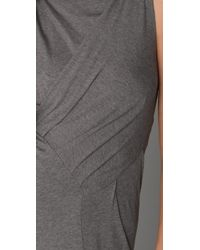 Jarbo - Sleeveless Dress with Ruching - Lyst