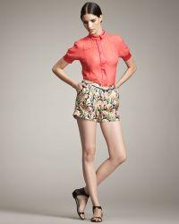 Jason Wu - Printed Silk Shorts - Lyst