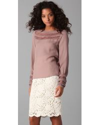 The Addison Story - Lace Inset Top - Lyst