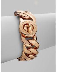 Marc By Marc Jacobs Katie Turnlock Braceletrose Gold - Lyst