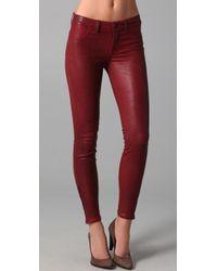 J Brand Leather Skinny Pants - Lyst