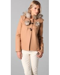 Juicy Couture - Pom Pom Coat - Lyst