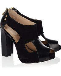 Kat Maconie Lucy Leather and Suede Sandals - Lyst