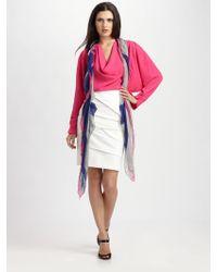 Yigal Azrouël Compact Jersey Skirt - Lyst
