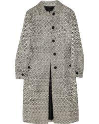 Burberry Prorsum Woven Raffia and Cotton-blend Coat - Lyst