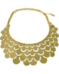 Roberto Cavalli Flat Scale Necklace - Lyst