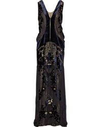 Roberto Cavalli Devoré-velvet Gown - Lyst