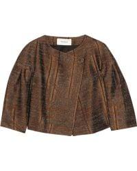 Pringle of Scotland - Textured Satin-twill Jacket - Lyst