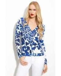 Just Cavalli Mixed Print Cotton Silk Blouse - Lyst