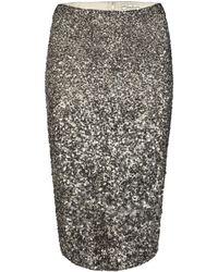 AllSaints Scala Pencil Skirt - Lyst