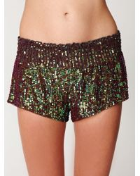 Free People Sequin Boxer Short - Lyst