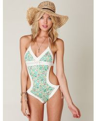 Free People Printed French Monokini - Lyst