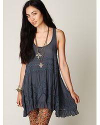 Intimately Womens Voile And Lace Trapeze Slip - Lyst
