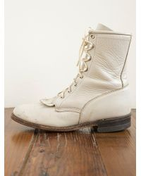 Free People Vintage Lace Roper Boot - Lyst