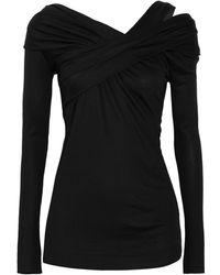 Donna Karan New York Wool-blend Stretch-jersey Top - Lyst