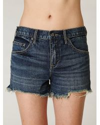 Free People Fp Denim Cut Off Shorts - Lyst