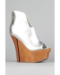 Jeffrey Campbell The Way in Shoe in Silver - Lyst
