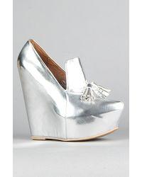 Jeffrey Campbell The Zealous Shoe in Silver - Lyst