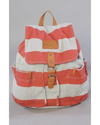 Nixon The Get Go Backpack in Red Stripe - Lyst
