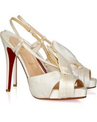Christian Louboutin Pour Monsieur 120 Satin Sandals - Lyst