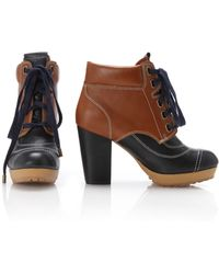 French Connection - Jared Lace-up Ankle Boots - Lyst