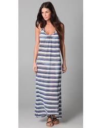 Josa Tulum - Striped Low Back Halter Dress - Lyst