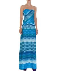 Missoni Strapless Gown - Lyst