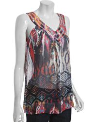 Sienna Rose - Printed Scoop Neck Tank - Lyst
