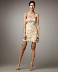 Sue Wong Petal-skirt Cocktail Dress - Lyst