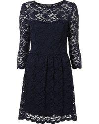 Topshop Sweetheart Lace Flippy Dress - Lyst