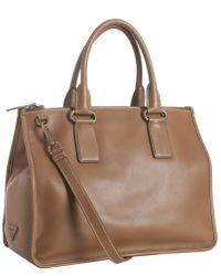 Prada Leather Convertible Shoulder Bag - Lyst