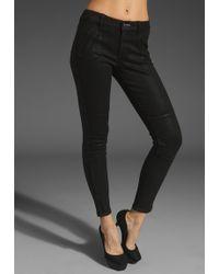 Juicy Couture Slick Zip Denim Jean - Lyst