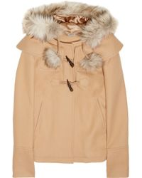 Juicy Couture - Faux Fur-trimmed Wool-blend Coat - Lyst