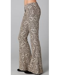 Georgie - Ashley Lace Bell Bottom Pants - Lyst